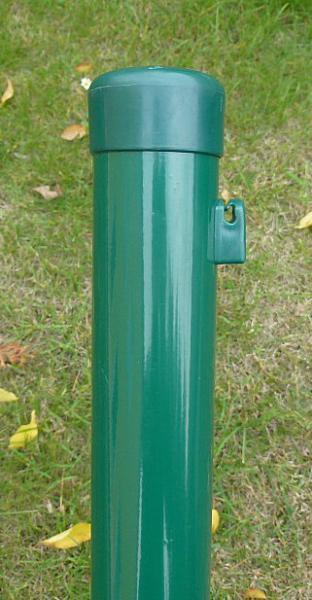 Sloupek Plotový Poplastovaný (Komaxit) s čepičkou pr.38mm 1,5mm 200cm Zelená 3Kg