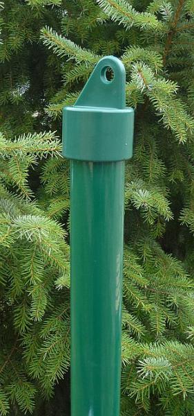 Vzpěra na plot Poplastovaná (Komaxit) s pvc krytkou pr.38mm 1,5mm 200cm Zelená 2,9Kg
