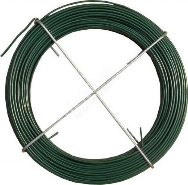 Vázací drát Poplastovaný 1,1/1,5mm 30bm Zelená 0,4Kg